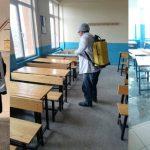 Tüm Okullar Dezenfekte Edildi