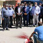 Başkan Gürkan Hekimhan'da Kurban Kesilerek Karşılandı