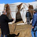 Şiddetli Rüzgâr, Küçükbaş Hayvanların Barındığı Çadırı Yırttı