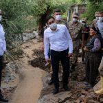 Hekimhan'da Etkili Olan Sağanak Nedeniyle Dere Taştı