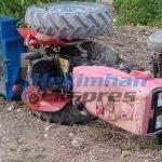 Kacaözü'nde Traktör Devrildi: 2 yaralı